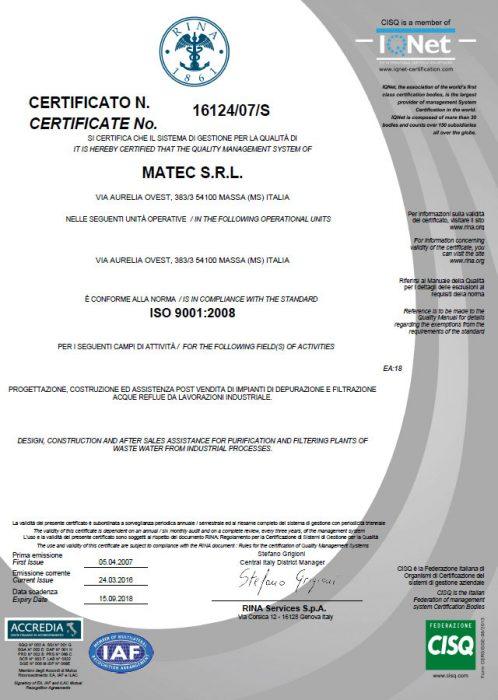 Certificat RINA